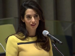 Amal Clooney Speaks Out Against ISIS, Genocide at UN
