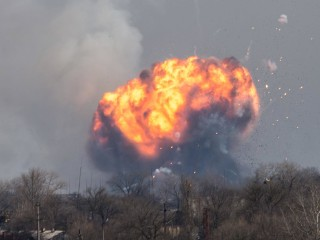 Tank Ammunition Depot Blown Up By Saboteurs