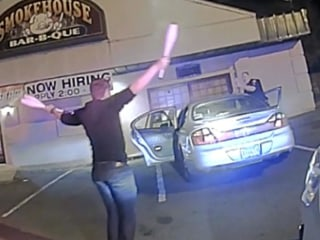 Officer Stops Driver, Gets Juggling Show