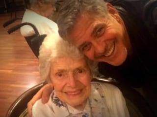 George Clooney Surprises Elderly Fan For Her Birthday