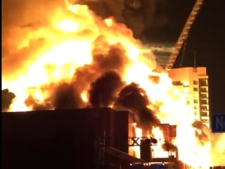 Huge Fire Consumes Apartments, Collapses Crane in Downtown Raleigh