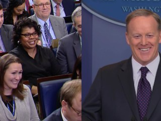 April Ryan, Sean Spicer Seem to Move Past Heated 'Road Kill' Exchange