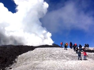 Mount Etna Explodes: Watch News Crew's Dramatic Escape