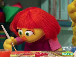 Inspiring America: Julia, an Autistic Muppet, Makes Her TV Debut
