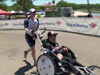 Cerebral Palsy Didn't Stop This Athlete From Finishing Half-Ironman