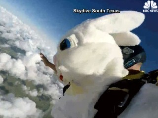 Easter Bunny Skydives Down the Bunny Trail