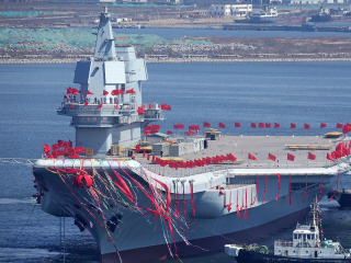 China Launches its First Homebuilt Aircraft Carrier, Based On Old Soviet Design