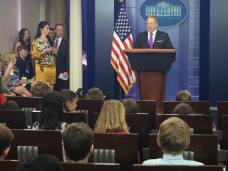 Kids grill Sean Spicer on Take Our Daughters and Sons to Work Day