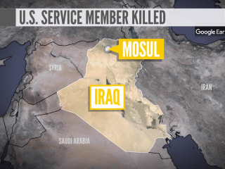 US service member killed by explosive device near Mosul