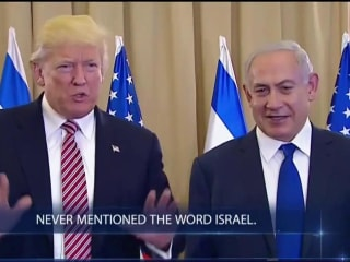 Pres. Trump in Israel Gives Off-Hand Remarks on Russian Intel Incident