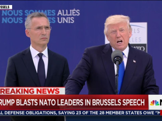 Stone-Faced World Leaders Listen as Trump Blasts NATO Allies