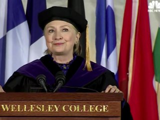 Watch Hillary Clinton's Full Wellesley Commencement Speech