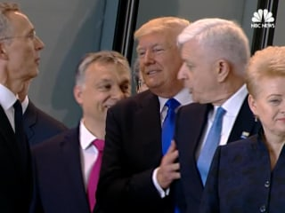 Trump Appears to Push Aside Montenegro's PM at NATO Summit