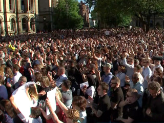 Thousands Attend Vigil in Response to Manchester Attack