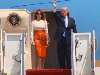 Watch President Trump Depart the U.S.