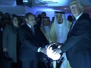 ICYMI: Watch President Trump Touch Glowing Orb