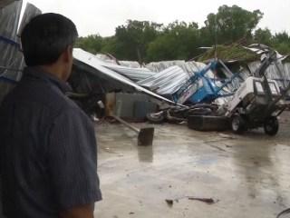 Damaging Winds, Possible Tornado Strike Houston Area