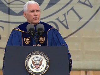 Vice President Mike Pence booed at Notre Dame
