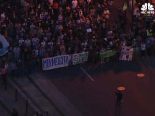Hundreds March in Protest of Verdict in Philando Castile Shooting