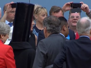 'Lord Buckethead' Steals Limelight From British PM May