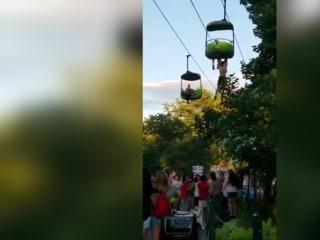 Teen Makes 25-Foot Fall From Amusement Park Ride
