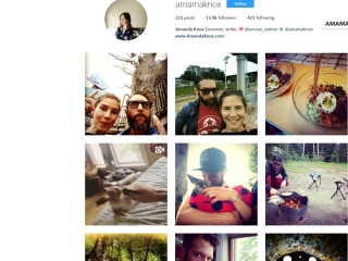 Amanda Knox makes her Instagram profile public