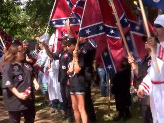 KKK Holds Rally in Charlottesville, Virginia