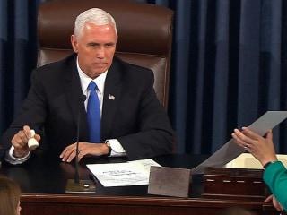 Watch Pence Break Tie on Procedural Health Care Vote