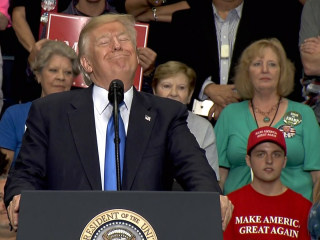 Trump Jokes at Cheering Ohio Rally: Will I Someday Be on Mt. Rushmore?