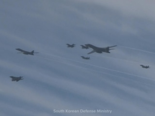 US Bombers Fly Near North Korea After Missile Test