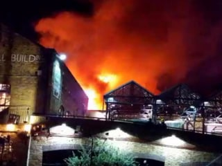 London's Historic Camden Market Engulfed by Flames