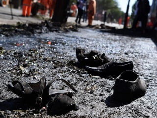 Taliban Suicide Bomber Targets Commuters on Bus