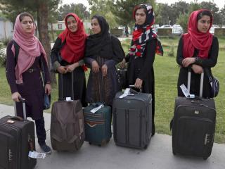 Afghanistan's All-Female Robotics Team Heads to U.S. After Trump Intervenes