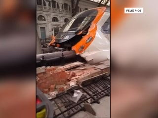 Train crashes in Spain, injuring more than 50