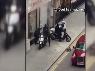 Jewelry heist in London caught on camera