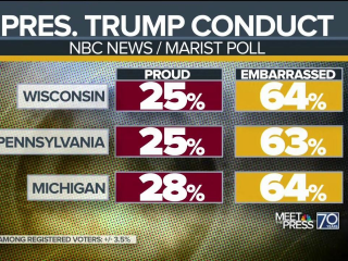 'Embarrassed' Voters in Midwest States Rate President's Conduct