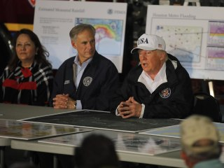 Trump Receives Harvey Briefing in Corpus Christi, Texas