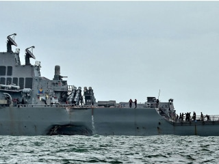Sailors Missing, Injured After U.S. Warship Collides With Tanker