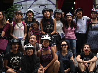 Female Cyclists in Mexico Rally for Their Rights in The Street