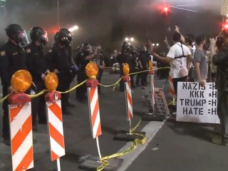 Protesters Clash With Police After Trump Rally in Phoenix