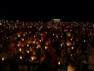 Hundreds Gather for Candlelight Vigil in Charlottesville