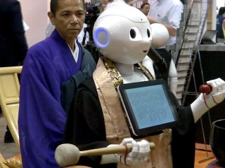 Pepper the Robotic Buddhist Priest Debuts in Japan