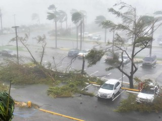 Hurricane Maria Pummels Puerto Rico With Powerful Winds