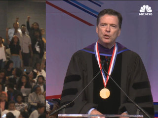 Comey Listens, Responds as Howard U. Protesters Drown Out Speech