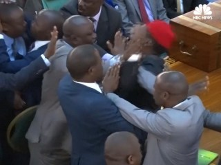 Fight Breaks Out in Uganda's Parliament