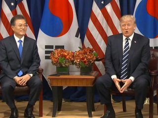 Watch Trump React to South Korean President's Use of 'Deplorable'