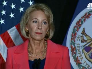 Betsy DeVos Overhauls Obama-Era Guidance For Campus Sex Assault