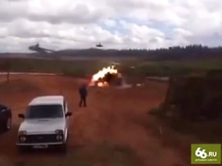 Russian Gunship Accidentally Fires Rocket at War Games Spectators