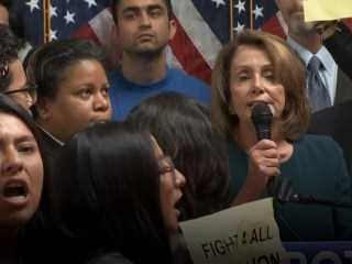 Watch Protesters Interrupt Nancy Pelosi at Pro-DACA Event
