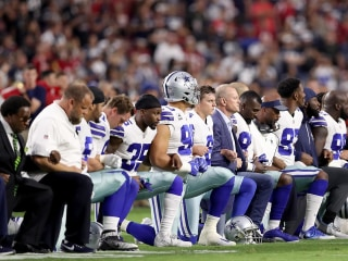 Dallas Cowboys and owner kneel before anthem on Monday Night Football
